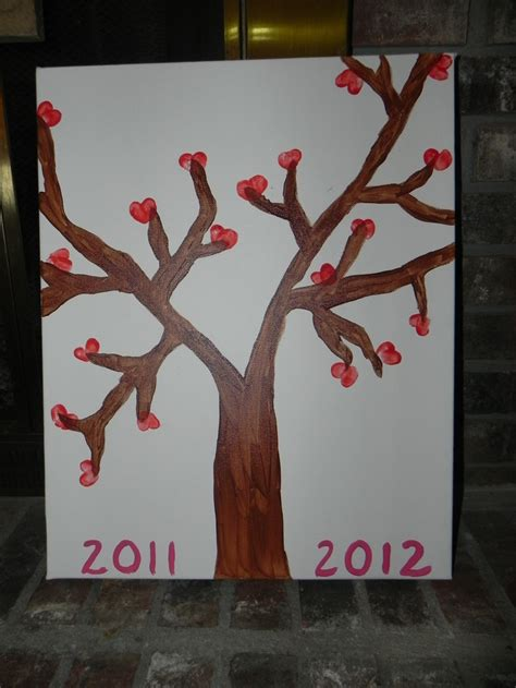 the tree could not put thumbprint tree that the kindergarten class made for their could give