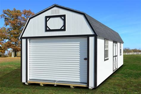 Garage Portable Buildings by Painted Lofted Garage Derksen Portable Buildings