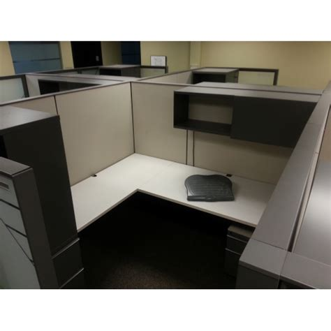 knoll grey office systems furniture desks cubicles pods allsoldca buy sell  office