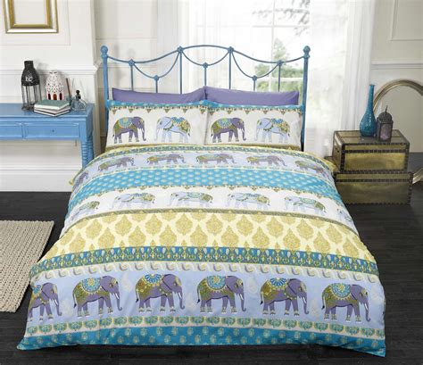 indian style comforter sets blue indian style elephant duvet cover pillowcase