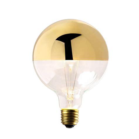 half gold light bulb lights com bulbs decorative bulbs gold tipped g40