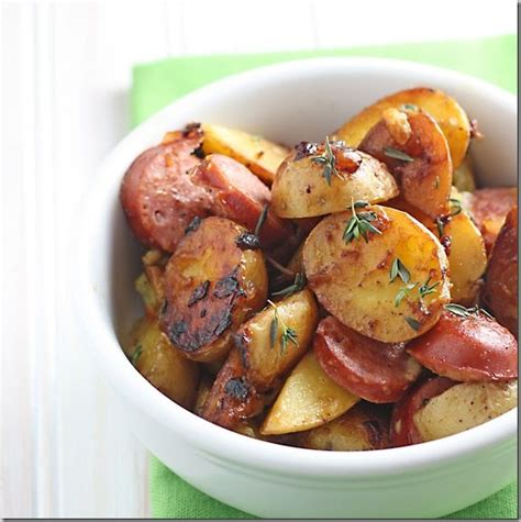 sausage and potatoes cooking pinterest