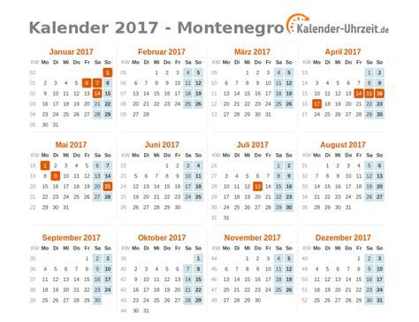 Montenegro Kalender 2018 Feiertage 2017 Montenegro Kalender 220 Bersicht
