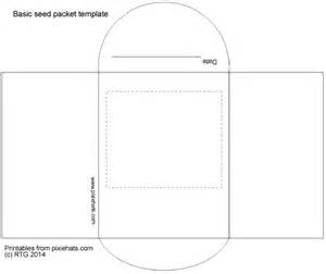 seed packet template paper seed pot seed packet outlines and label