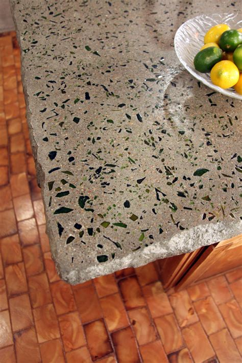 Glass Cement Countertops by Salvage Style Guest Room 2