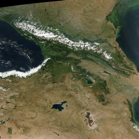 earth snapshot greater caucasus mountains