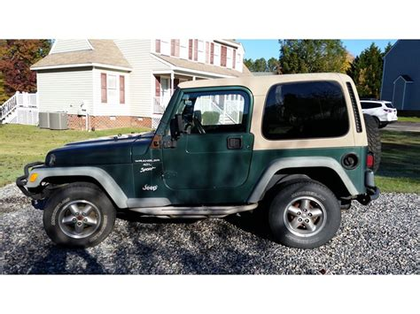 Jeep Wrangler By Owner For Sale 2001 Jeep Wrangler For Sale By Owner In Midlothian
