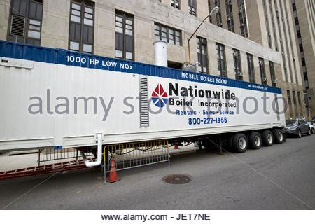 new york city truck trailer connection stock photo