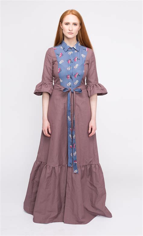 Ethnik Dress linen dress linen dress maxi dress country style
