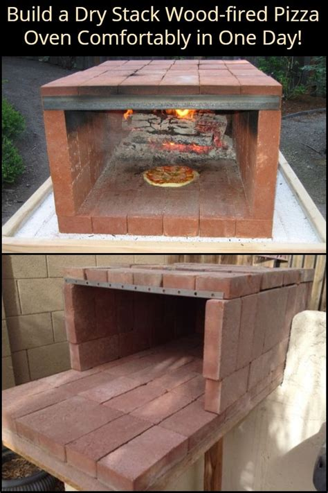 build  dry stack wood fired pizza oven comfortably