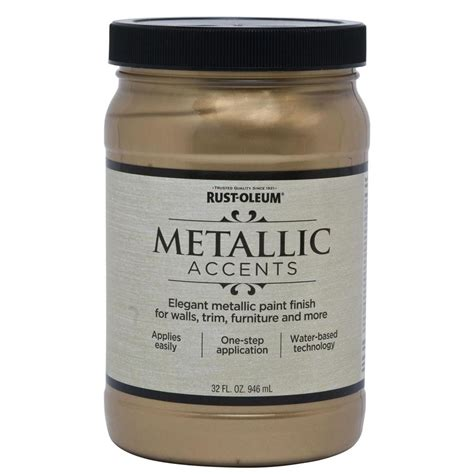 Metallic Gold Interior Paint by Shop Rust Oleum Metallic Accents Quart Size Container Interior Gloss Soft Gold Metallic