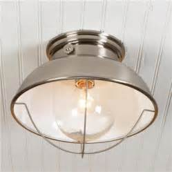 Nantucket Ceiling Light Nantucket Ceiling Light Brushed Stainless Finish Farmhouse Ceiling Lighting By Shades Of