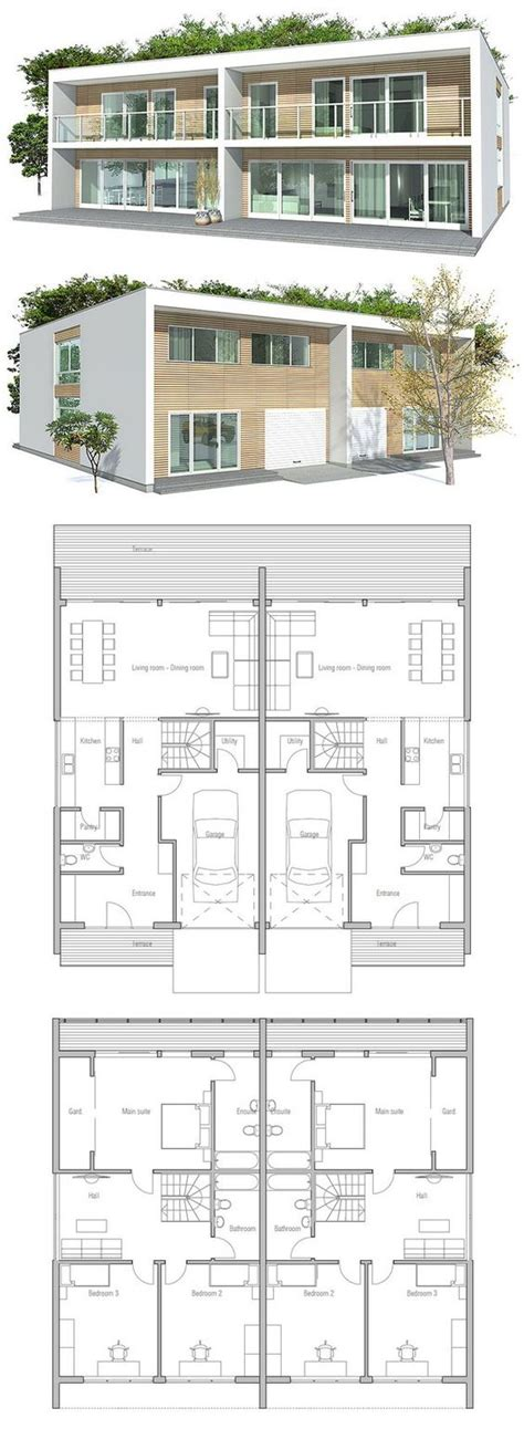 house plans with separate apartment duplex house a house divided into two apartments with a