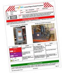 Lock Out Tag Out Procedures Template by Lockout Tagout Procedures Program And Brady