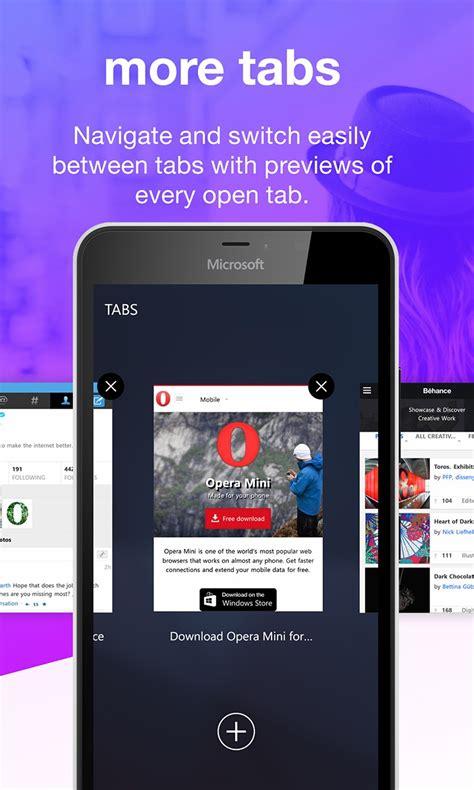 opera mini opera mobile opera mini for windows 10 mobile