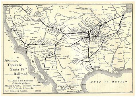 santa fe map atchison topeka and santa fe railway images