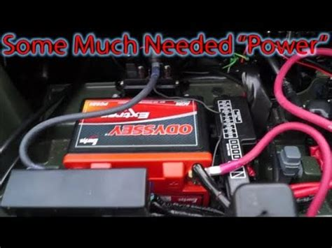 pioneer 1000 dual battery install youtube