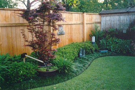 backyard fence landscaping ideas backyard oasis of tranquility backyard fence line