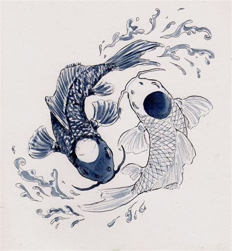 ying yang in koi fish style dejavu tattoo studio 220 ber 1 000 ideen zu koi fish drawing auf pinterest