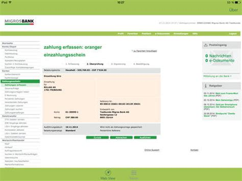migros bank helpline migros bank e banking tablet on the app store