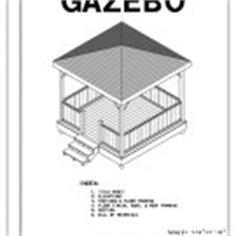4 Sided Roof Construction 4 Sided Gazebo Hip Roof Building Plans Blueprints 12 Do