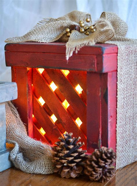 how to make wooden present christmas decorations for the