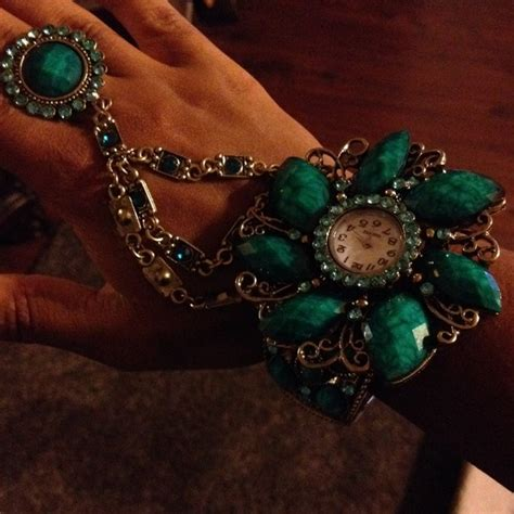bracelet with and ring attached os from jas s closet
