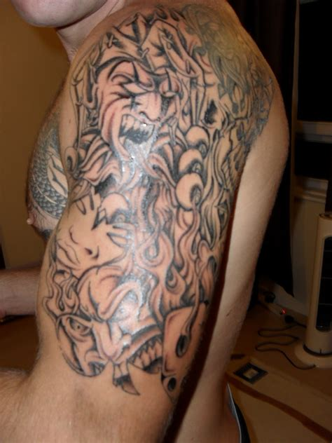shading sleeve tattoo designs shaded sleeve designs