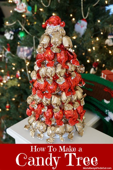 how to make a candy tree using a styrofoam cone tree form
