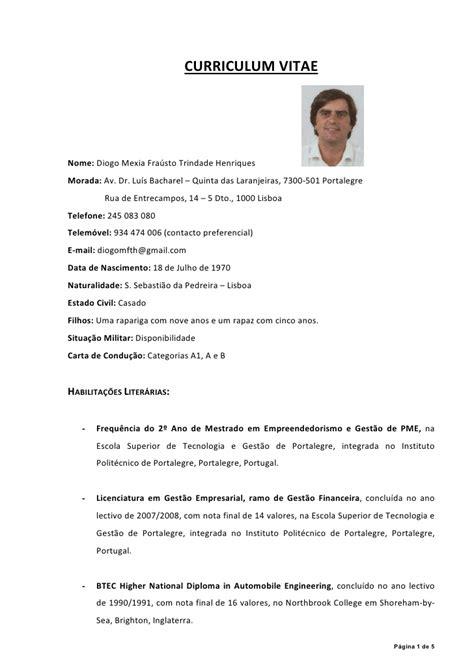 Modelo Curriculum Vitae Em Portugues Como Fazer Um Curriculo Em Espanhol Como Fazer Um Curriculo