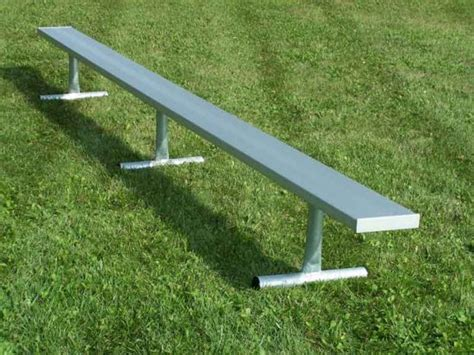 aluminum bench seating portable aluminum player bench