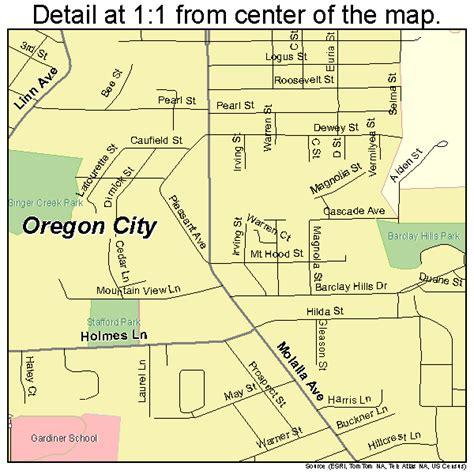 map of oregon city area oregon city oregon map 4155200