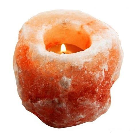 salt rock tea light holder hemingweigh himalayan natural crystal salt rock tea light