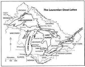 map of us with great lakes labeled map of the laurentian great lakes map of the laurentian