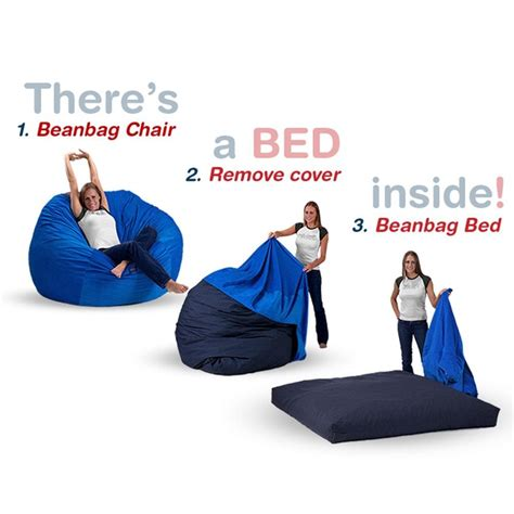 bean bag bed shark tank queen size bean bag chair bed in royal blue corduroy for the home pinterest chair bed