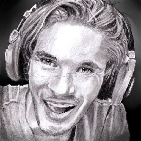 Drawing Realistic by Learn How To Draw Realistic Pewdiepie Felix Kjellberg
