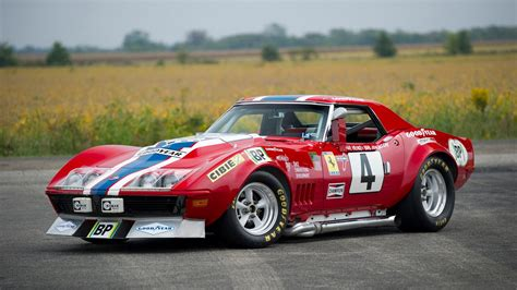 chevrolet corvette c3 1968 le mans 24h racing car