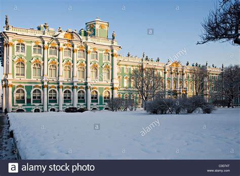 St Snow quot winter palace quot in winter snow st petersburg russia stock
