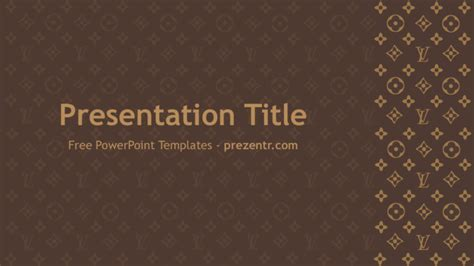 free louis vuitton powerpoint template prezentr