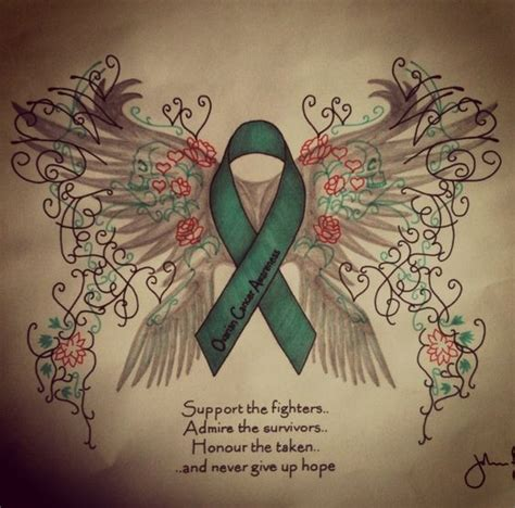 ovarian cancer ribbon tattoo designs ovarian cancer awareness by johnflynn01 on deviantart