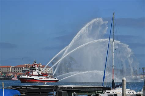 fire boat display fire boat s display photograph by heidi smith