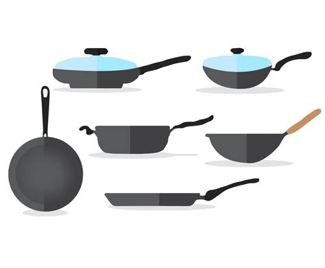 Pan Outline For L by Frying Pan Vector Set Vector Graphics Freevector
