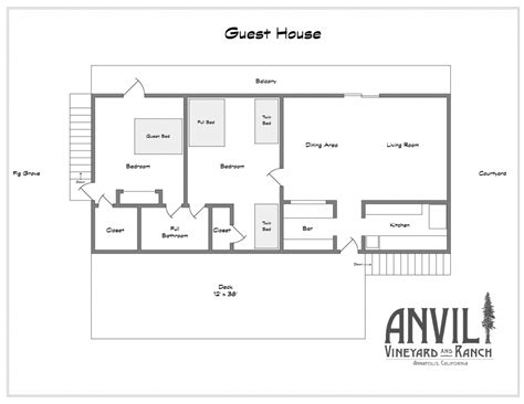 charming guest house floor plans 2 bedroom collection with
