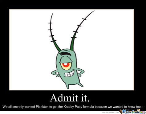 Plankton Meme - plankton by shinigamisama01 meme center
