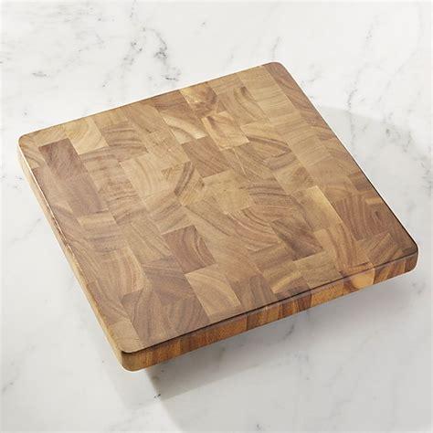 cutting boards square end grain cutting board crate and barrel