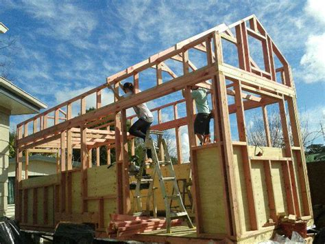 Framing Up Our Tiny House In 10 Days Tiny House Roof Plans