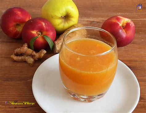 centrifugato carote mela pesca zenzero e curcuma la