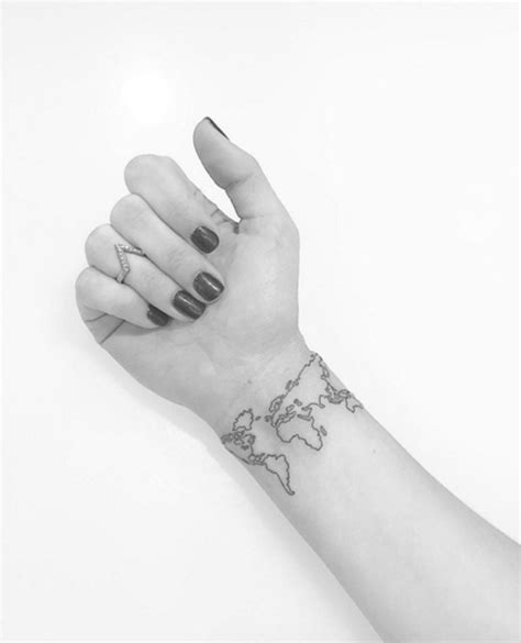 world wrist tattoo 32 map tattoos on wrists