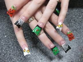 fashion and art trend halloween nail art design