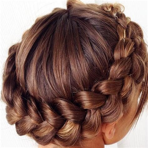types of crown on head for hair styles wrapped crown braid